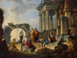 Apostle Paul Preaching Upon The Ruins By Giovanni Paolo Panini 1744